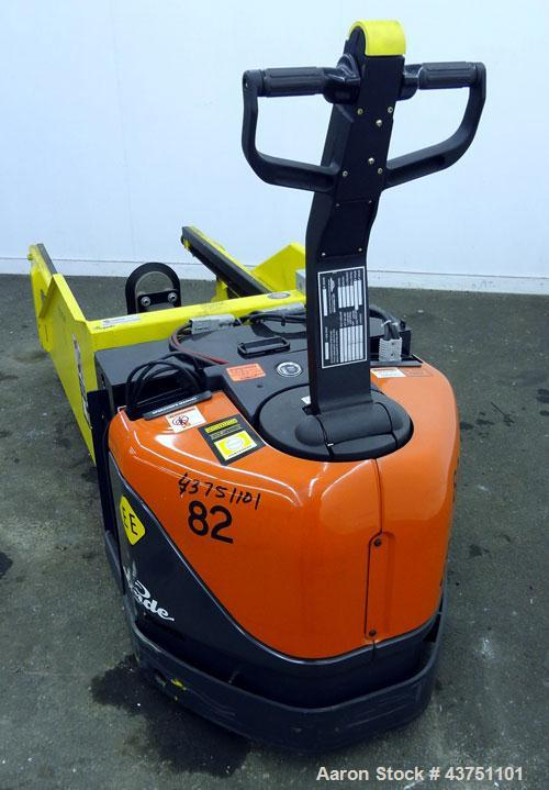 Used- Linde XP Walkie Electric Pallet Truck, Model EW60-02/EE.  6000 Pound capacity.  24 Volt.  Includes an MTC Attach-A-Pul...