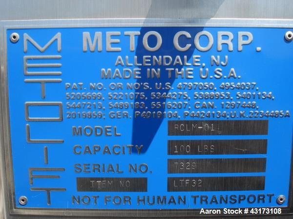 Used- Meto Lift, Model RCLM-01