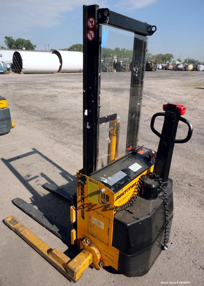 Used- Multition MCI Corp Model SW2063 2,000 Pound Capacity Electric Walk Behind Pallet Stacker 2,000 Pound Capacity Electric...