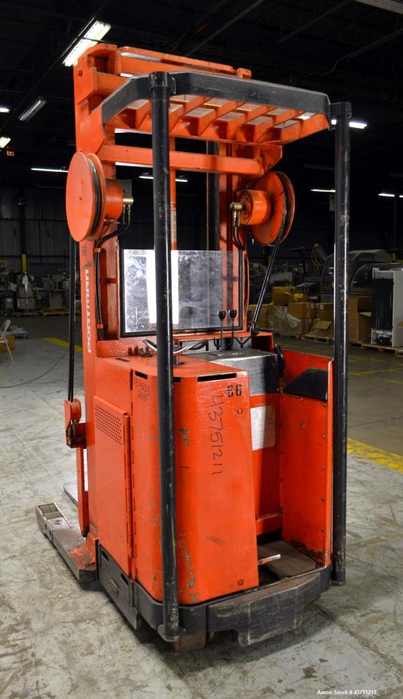 "Used- Raymond Corporation Stand Up Electric Reach Lift Truck, Model 20-R30TT. 3000 Pound capacity at 190"" lift height. (2) S..."