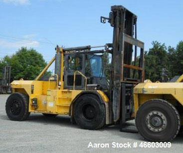 "Used- Taylor T450M. 45,000 lb. at 36"" load center, built 2001. 212"" Lift with 5-way valve. Independent fork positioner, side..."