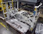 Used- Cascade Forklift Push/Pull Attachment, Model QFM. Capacity of 3500 lbs at 24