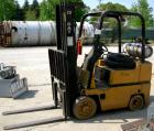 USED- Caterpillar LP Forklift, Approximate 3000 Pound Capacity, Model T30D. Solid tire, triple mast, 40