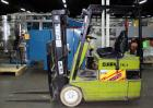 Used- Clark Electric Fork Lift/Truck, Model TM15. 9852 Hours. 2575 capacity. 42