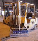 Used- Hyster Lift Truck, Model S50XL, 5000 lb capacity. Triple mast, (2) 42