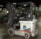 Used- Nissan Electric Fork Lift/Truck, Model CP1B2L25S. 9385 hours. Maximum 3450 lbs capacity. 42