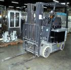 Used- Nissan Electric Fork Lift/Truck, Model CP1B2L25S. 10485.5 hour. Maximum 4400 lbs capacity. 42