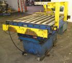 Used- Vestil Scissorlift, Model EHLTD-4848-4-70, Carbon Steel. 4000 Pound capacity. Includes 50'' wide powered roller convey...