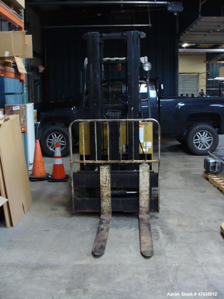 """Used-Yale Aprox. 2,000 lb. Capacity 24 V Electric Sit-Down Forklift, Model MSW020LAN24CS083, S/N N576930 with 2-Stage 126"""" L..."""