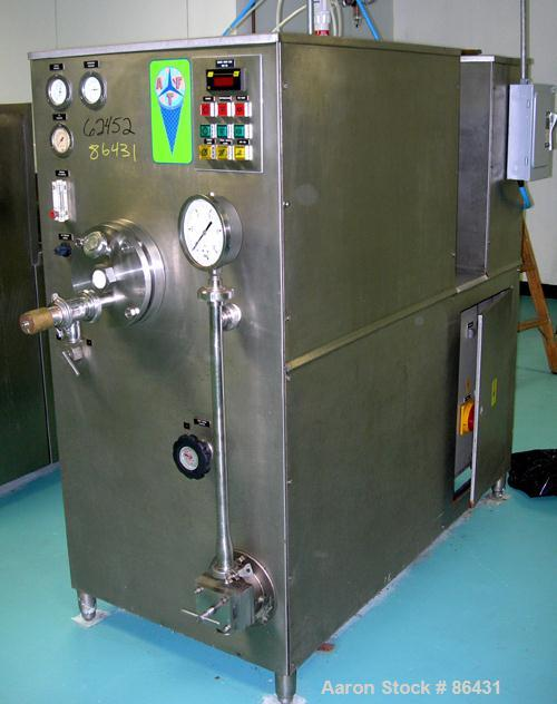 Used- Soren Model MS300 Continuous Ice Cream Freezer. Hourly capacities for ice cream are minimum 20 GPH and maximum 80 GPH....