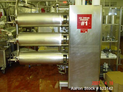 USED: Cherry Burrell ice cream freezer, model V603-900. Approximately1200 hours run time.