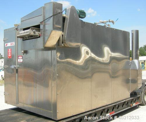 "Used-BOC Gases liquid nitrogen spiral freezer, model KF20.CR175SS, 304 stainless steel. Approximately 20"" wide belt. Designe..."
