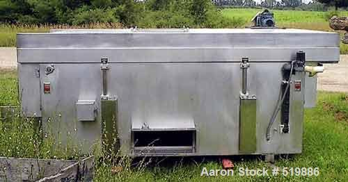 "USED: Koach freeze tunnel 48"" wide x 12' long. Stainless steel mesh belt and housing. Nitrogen cooled. Nitrogen compressor a..."