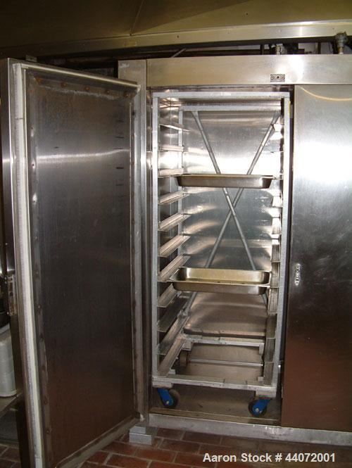 Used- Liquid Carbonic Blast Freezer.Hammond and Martini electrical control panel.Double door upright blast freezer to handle...