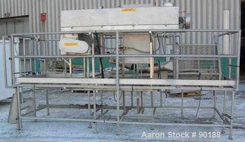 Used- Pulva Corp/BOC Nitrogen Purge Type Cryogenic Cooling Conveyor System