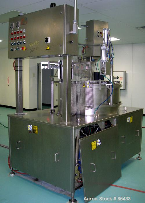Used- Sidam Ice Cream Machinery Polar Rotary Plant, Model Polartest 4 Wide, 304/316 stainless steel. Automatic, self-contain...