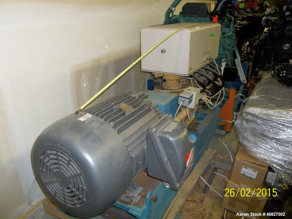 Used- Stirling Process Gas Liquifier, Model PPF 440. Complete with electric motor. Requires external cooling water source 15...