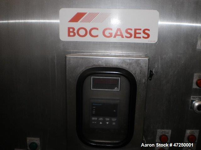 "Used- BOC Gases Freeze Tunnel, Model KFIT26.10M. Liquid nitorgen, 460 volts, 3 phase, 50 amps. 90"" wide includes all the fra..."