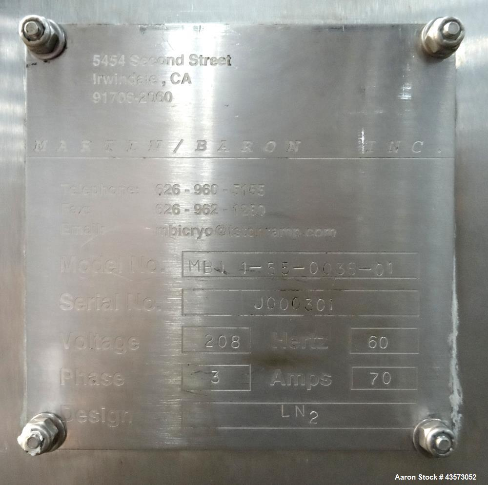Used- Martin Baron Nitrogen Tunnel Freezer