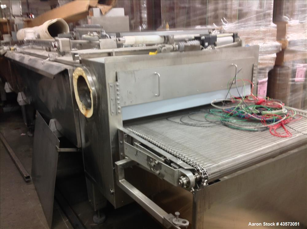 """Used-Praxair  Freezer Tunnel.  3 Chamber, 208V, 40"""" wide  usable belt. Conv, 12"""" clearance, 350"""" long, S/S Food Grade"""