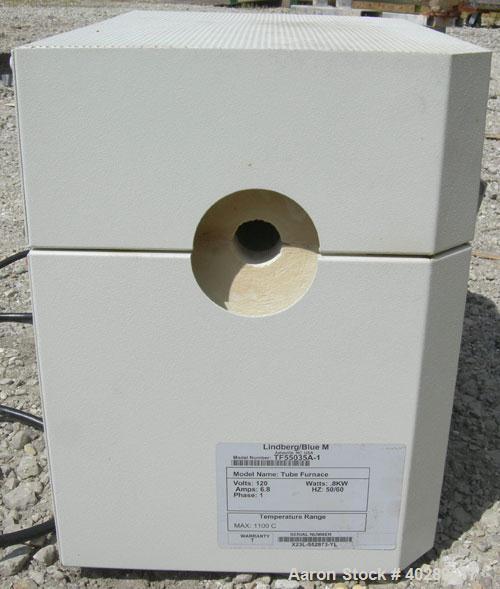 "Used- Lindberg Mini-Mite tube furnace, model TF55035A1. 1"" diameter x 12"" long chamber, maximum operating temperature 2012 d..."