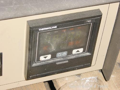 "USED:Barnstead/Thermolyne brick lined muffle furnace, model F30438CM.Max operating temp 2000 deg F. 1.6 cu ft chamber 14"" wi..."