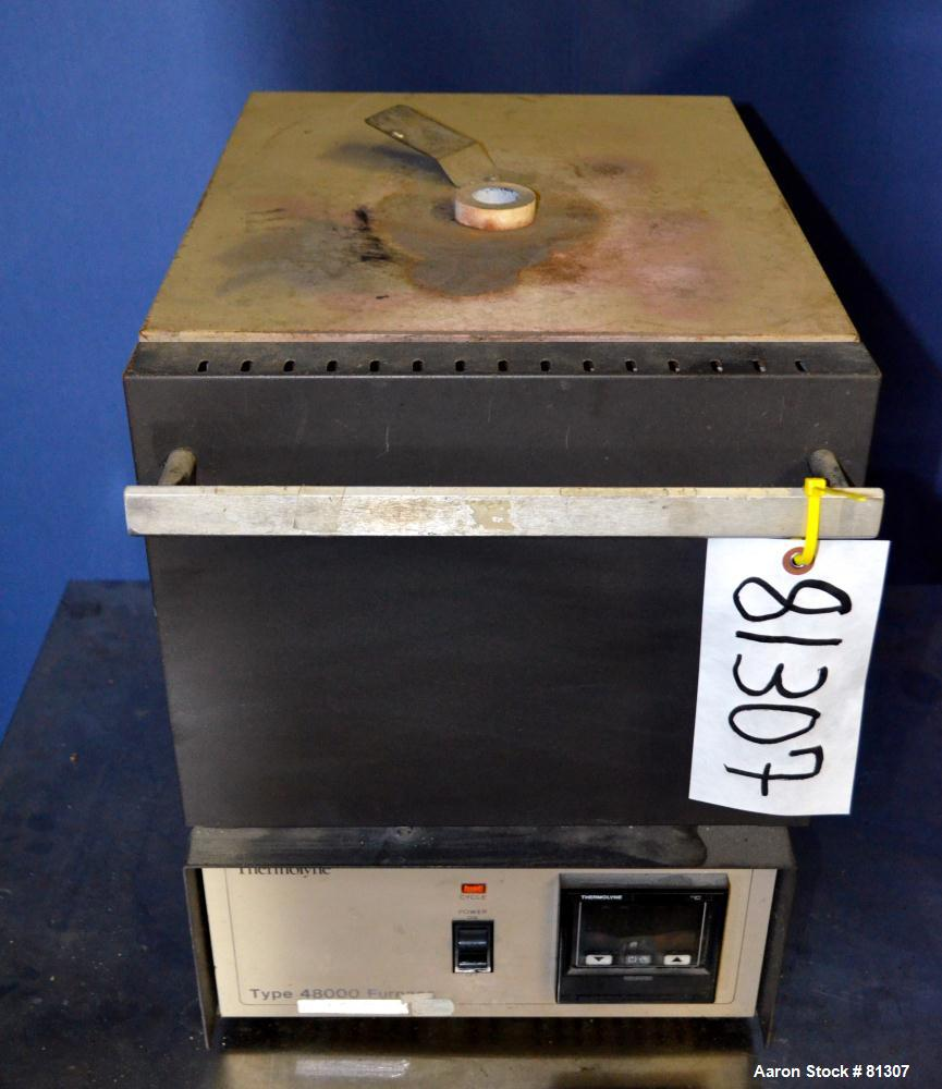 Used- Barnstead/Thermolyne Lined Muffle Furnace, Model F48055. Maximum operating temperature 212 to 2190 Degrees F. (.203) C...