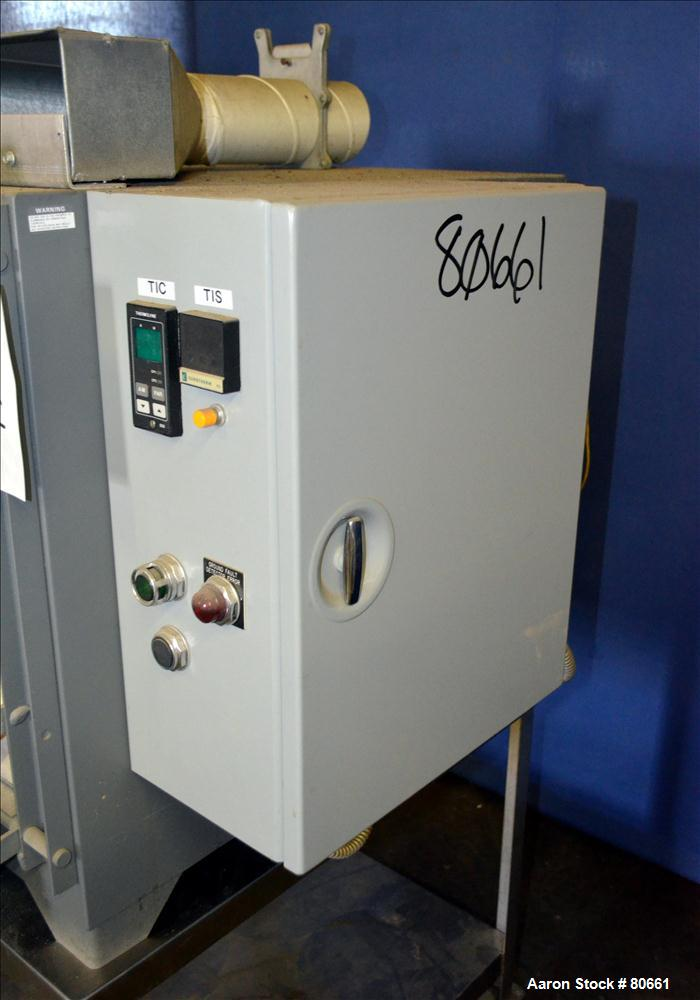 Used- Barnstead/Thermolyne Brick Lined Muffle Furnace, Model FA1850. Maximum operating temperature 2000 degrees F. 1.5 Cubic...