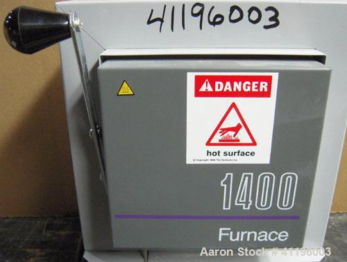 """Used- Barnstead Thermolyne Small Benchtop Muffle Furnace, Model FB1415M. Ceramic fiber insulation lined chamber measures 5"""" ..."""