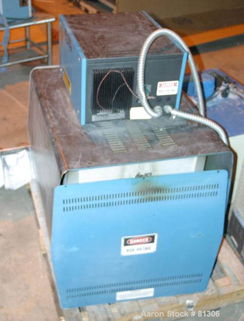"USED: Lindberg lined muffle furnace, model 51333. Max operating temp2732 deg F. Chamber 6"" wide x 5"" tall x 17"" deep. Front ..."