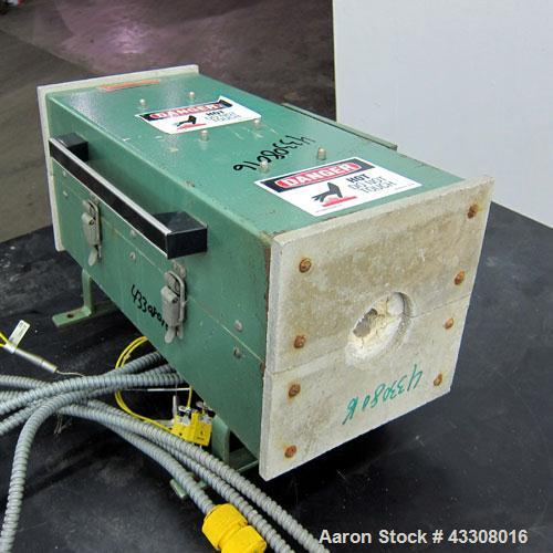 Used- Thermcraft Split Tube Furnace, Model 2114-14-3ZV. Maximum temperature 2204 degrees F. (1200 C.). 3 Zone chamber, appro...