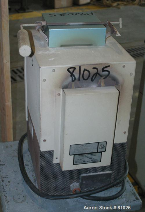 "USED: Thermolyne muffle furnace, model EC2025P-1. 4"" wide x 3-1/2"" tall x 9"" deep chamber. Approximate temp range to 1800 de..."