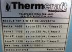 Used- Thermcraft Split Tube Furnace, Model TSP-6-0-12-3C-J5733/1A