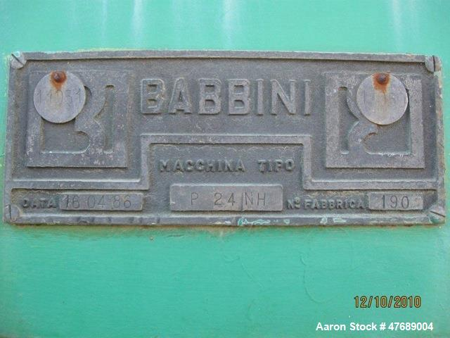 Used- Gear Reducer for Babbini P-24 Dewatering Press.