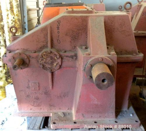 """Used- Brad Foote Gear Works Model 2DH-228 Pumping Gear Reducer. Input shaft 2-1/2"""" wide x 7-1/2"""" long. Output shaft 6"""" wide ..."""