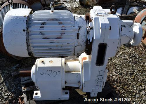 Used- Sew Eurodrive Variable Speed Gear Motor. 25 hp, 3/60/230/460 volt, 1760 rpm XP motor. Type R92VU51 reducer, ratio 13.0...