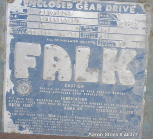 Used- Falk Parallel Shaft Enclosed Gear Drive, Model 2110YT2-5