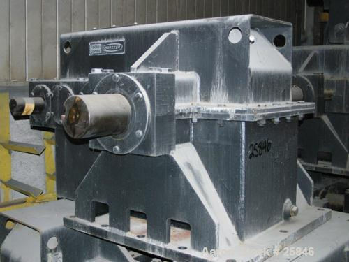 Used- Foote-Jones Dresser Titan Pumping Unit Gear Reducer, Model 1603HLT. 228 peak torque rating, ratio 37.3:1. Input shaft ...