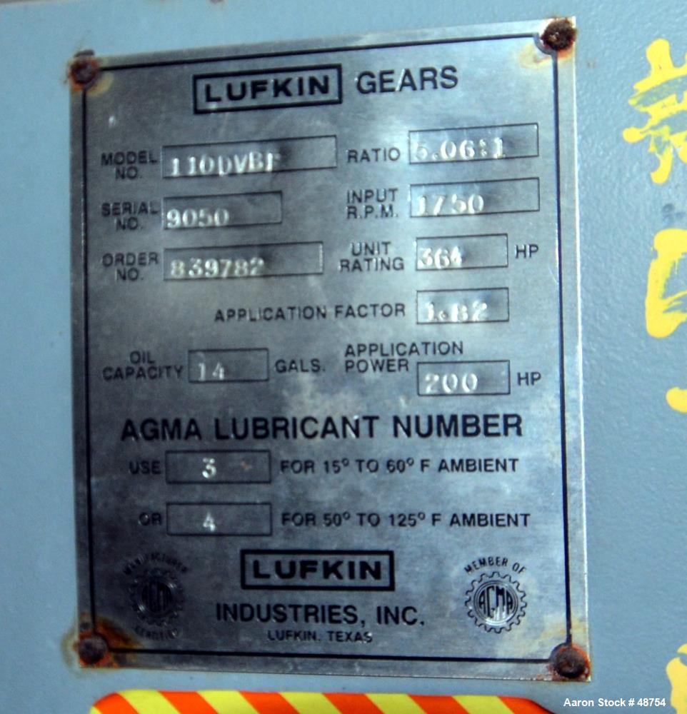 Used-Unused- Lufkin Right Angle Gearbox, Model 110 DVBF