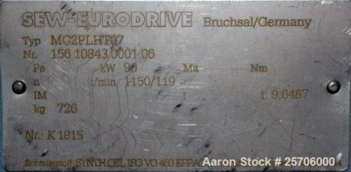 Unused- SEW-Eurodrive Gear Box, Model MC2PLHT07. 90kW rating, rpm 1150/119.