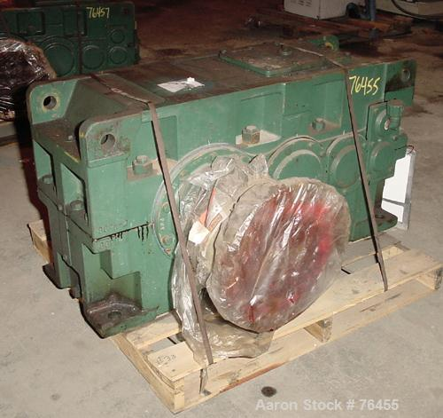 Used- Sumitomo Paramax 7 Parallel Shaft And Right Angle Reducer, Model SM7080P3-LR-71. Input hp 75, input rpm 870, hp rating...