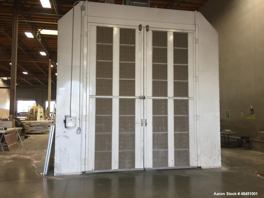 "Used- 45' Long x 16' Wide x 16' High Drive Thru Truck Booth. Cross flow, 42"" fan, 7.5 hp motor. 32-4 tube lights, filtered e..."