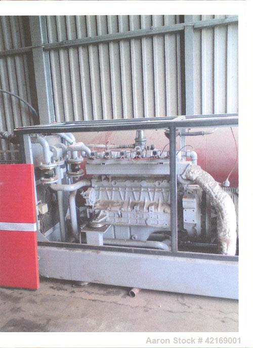 Used-Mini Frichs Biogas Generator/Heater. 60 kW electricity, 95 kW heat, Valmet 634G 6 cylinder motor. Generator, 3/50/400V,...