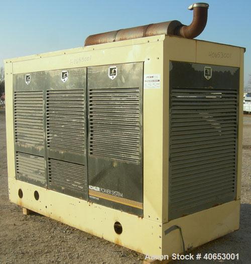 Used- Kohler 145 KW Natural Gas Generator, Model135RZD Spec. PA - 194006. 3/60/277-480V.  Detroit Diesel series 50 natural g...