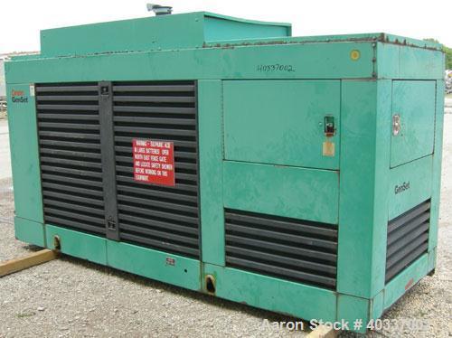 Used-Cummins / Onan 200 kW diesel generator set, model 200DFBD37195E, 3/60/277-480V. Cummins NT-855-G4 engine. Engine no 115...