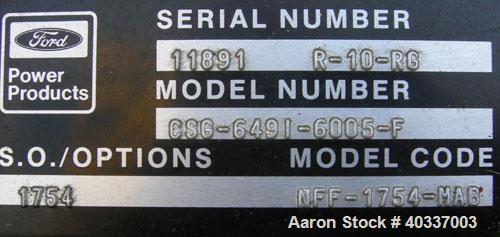 Used- Kohler 45 kW natural gas generator set, model 45RZ72, SN-286397, Fast Response II. Ford model CSG-6491-6005-F, SN-1189...