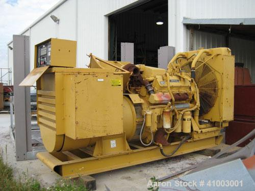 Used- Cat 400 kW Diesel Generator Set. 3/60/277-480V. CAT 3408B engine. 168 hours. Built 1990. No muffler.