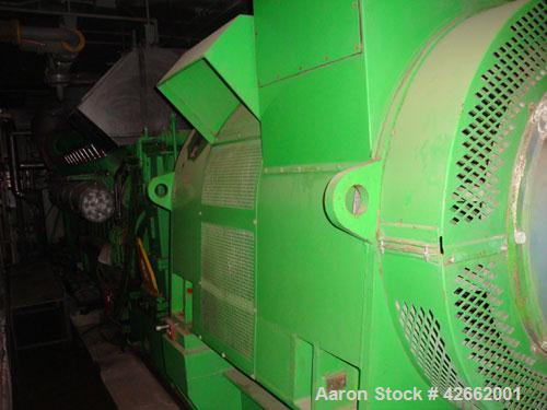 Used- Jenbacher Diane 5MW Cogen plant consisting of; (2) Jenbacher - 20 cylinder, 4000HP., NG fired, 1500 RPM engine, with 1...