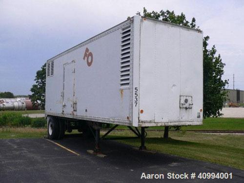 Used-315 kW Generator Set. Fully enclosed, quiet trailer; Detroit Diesel engine 8VF025537 80837305; Marathon generator model...
