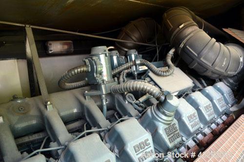 Used- Atlas Copco QAC 1006 Package, DDC/MTU, 1000kW standby (900kW prime) portable diesel generator set. DDC/MTU model 16V20...